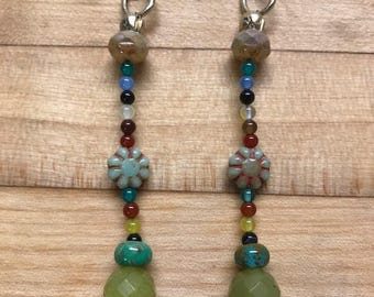 Bohemian drop earrings