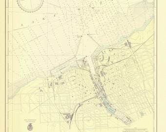 Oswego Harbor Map - 1937