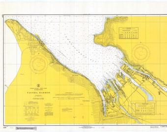 Tacoma Harbor Map 1968