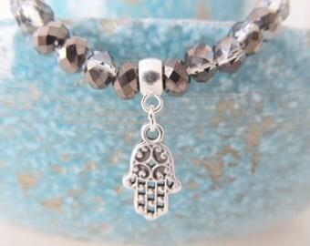 Hamsa bracelet, yoga bracelet, hamsa jewelry