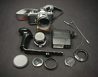 Vintage 35 mm Nikon F M Camera Complete with Lots of Extras Ready to Use