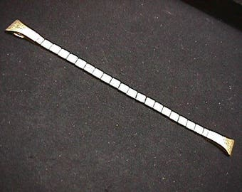 Antique Ladies Filigree Gold Filled Watch Band with streatchy ends