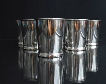 Six Sterling Mint Julep Cups by Web Silver Co.