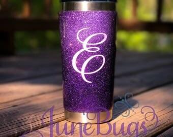 Glitter Tumbler - Stainless Steel Tumbler - Custom Glitter Dipped Cup - Ombre Glitter - Monogram Tumbler - Gift for Her - Easter Gift