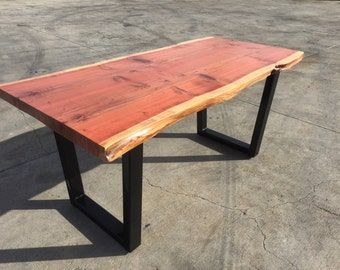 Redwood -Book Match - Dining Table