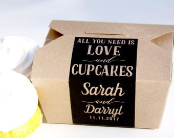 Cupcake Box, Cake Box, Cookie Box, Doughnut Box, Cake Favor Box, Favor Box, To Go Box, Dessert Favor, Dessert Sign, Favor Label, Donut Box