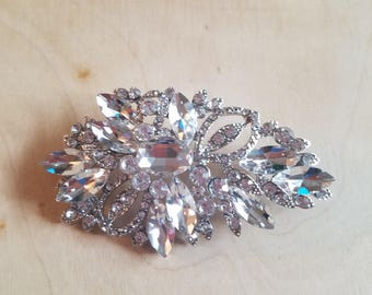 Crystal Cluster Brooch