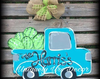 Truck Door Hanger, Watermelon Door Hanger, Door Hanger