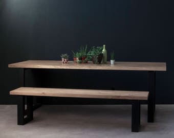 Industrial Dining Table - Sage - Modern, Rustic, Kitchen, Meeting, Boardroom