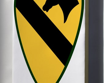 Canvas 24x36; 1St Cavalry Division - Shoulder Sleeve Insignia