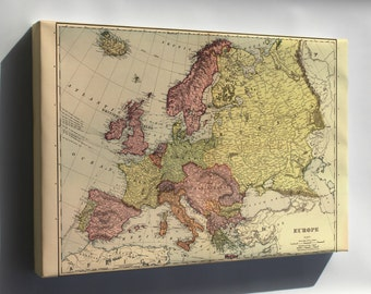 Canvas 24x36; Map Of Europe 1898