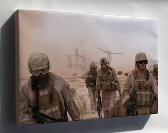 Canvas 24x36; Marines In Afghanistan V-22 Osprey