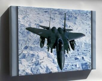 Canvas 16x24; U.S. Air Force F-15E Eagle Over Northern Iraq