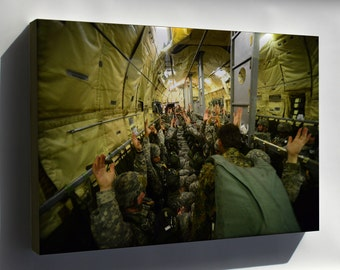 Canvas 16x24; U.S. Army Paratroopers With The 82Nd Airborne Division