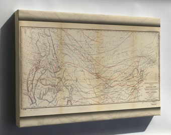 Canvas 16x24; Isothermal Map Of United States & Canada 1859