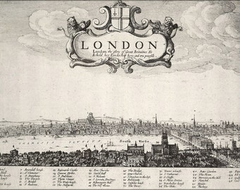 16x24 Poster; London, England 17Th Century
