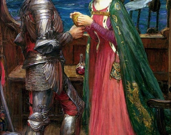 16x24 Poster; Tristan And Iseult. John William Waterhouse, 1916 King Arthur And Knights Of Camelot