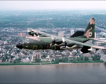 16x24 Poster; U.S. Air Force Ec-130E Hercules,193Rd, Harrisburg, Pennsylvania