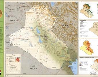 16x24 Poster; Cia Iraq Summary Map 1994