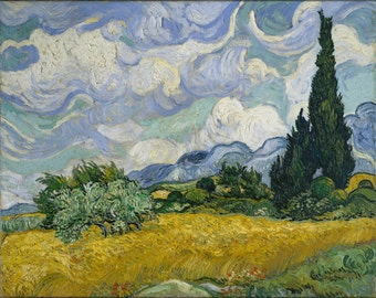 16x24 Poster; Wheat Field With Cypresses 1889 By Vincent Van Gogh