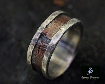 Mens Ring Engagement Wedding Band Unique
