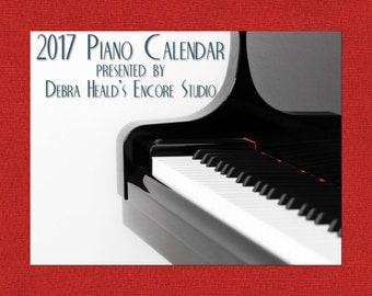 2017 Piano Calendar from Encore Studio