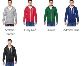 Monogrammed zip up hoodie