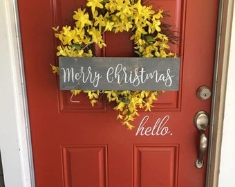 Merry Christmas Wood Sign | Wooden Sign | Rustic Wood Sign | Christmas Sign | Holiday Decor | Rustic Christmas Decor | Front Door Sign