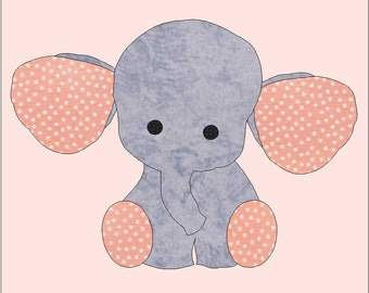 Elephant applique   Etsy : elephant applique quilt pattern - Adamdwight.com