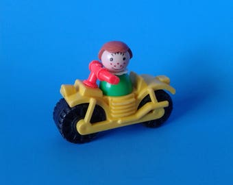 "Vintage Fisher Price Little People "" #994 Family Camper Motorcycle w/Girl "" 1970's"
