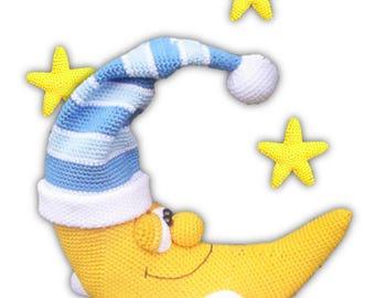 moon and stars - crochet pattern by mala designs