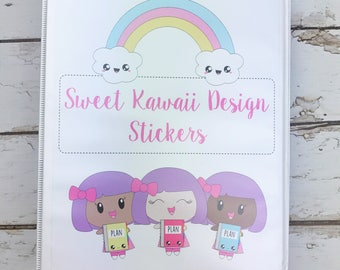 5.5x8.5 Sweet Kawaii Design Mini Binder (with 10 mini sheet protectors)
