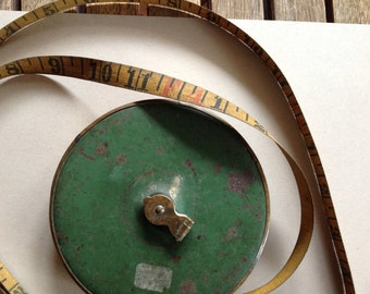 Vintage Lufkin 100 ft Cloth Tape Measure