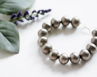 Antique Silver Beaded Bracelet