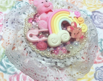 Pink Cute Compact Mirror