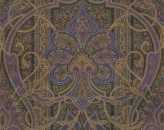 RALPH LAUREN HOME Berwick Paisley Medallions Italian Velvet Fabric 3 Yards Jewel Multi