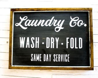 Laundry Co.| Wood Sign