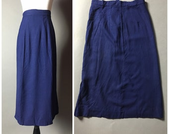 SALE SALE SALE Vintage 60s navy blue pencil wiggle skirt M5143