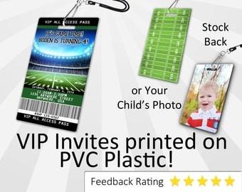 Football Invitation PLASTIC Football, Football Invitation, Birthday Invitation, Birthday Invite, Football Birthday Invitation SKU-INV108