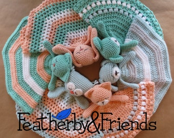 Pattern: Mix & Match Lovies Crochet Lovey Bear Bunny Cat Dog Owl Fox