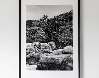 "60 x 90 fine art ""Tropical"" on Hahnemuhle cotton paper (structured) with or without frame"