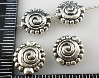 16/32/260pcs Tibetan Silver Oblate Spiral Spacer Beads 4x11mm