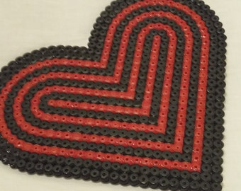 Red and Black Large Single Coaster