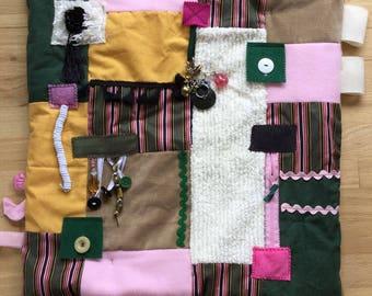 Fidget Quilts for Alzheimer's Symptoms | Dementia Blanket | Fidget blanket | PRETTY PinK PIN STRIPE by Restless Remedy