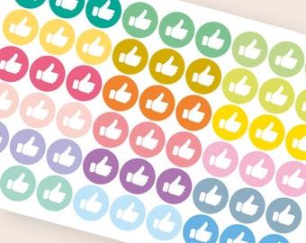 54 thumb up stickers, student stickers, college sticker, planner stickers, school stickers, eclp filofax happy planner kikkik social media