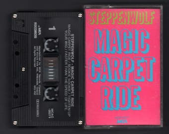 Vintage Cassette Tape : Cassette Tape - Steppenwolf - Magic Carpet Ride - MCA - MCAC-20271