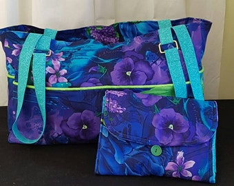 Diaper/Travel bag with matching change mat