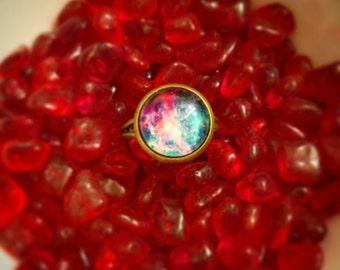 Purple Galaxy Ring, Purple Galaxy Adjustable Ring, Galaxy Ring, Nebula Ring, Galaxy Jewelry, Nebula Jewelry, Space Ring, Space Theme