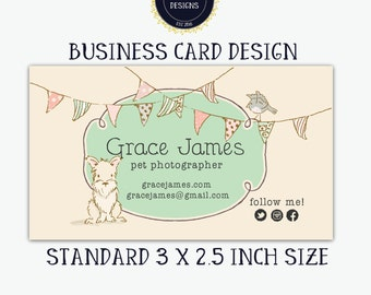 Business Card Design-Dog Business Card-Customized for you by me!