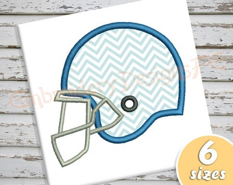 Football Helmet Applique Design - 6 sizes - Machine Embroidery Design File
